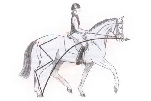 poner al caballo redondo